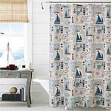 image of J. Queen New York™  Harbor 72-Inch x 72-Inch Shower Curtain in Blue