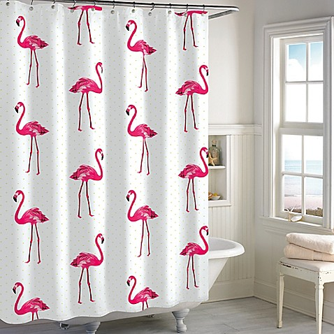 Flamingo Shower Curtain In Pink Bed Bath Beyond