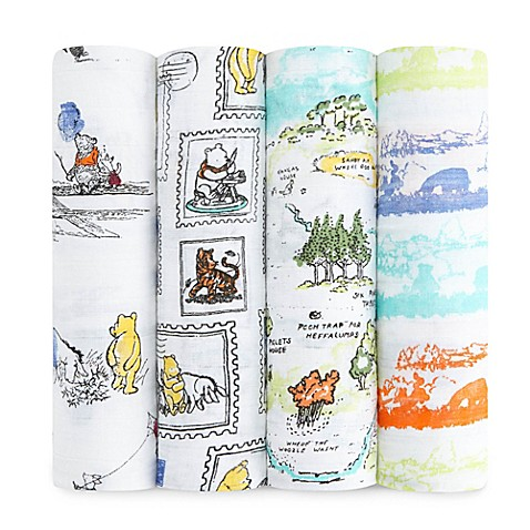 aden amp reg  Disney by aden   anais amp reg  4 Pack Winnie the Pooh Muslin Swaddle. aden  Disney by aden   anais  4 Pack Winnie the Pooh Muslin