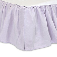 image of just born keepsake crib skirt in lilac
