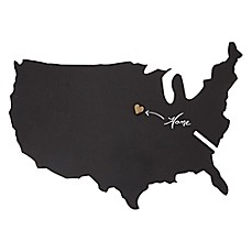image of Letter2word Babes & Kiddos USA Map Chalkboard 15-Inch x 22.5-Inch Wall Art