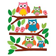 image of Wallies Owls Peel & Stick Wall Decals