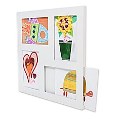 image of The Articulate Gallery 9-Inch x 12-Inch Slot Sided Quadruple Frame for Children's Art in White
