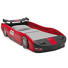 image of Delta™ Children Turbo Race Car Twin Bed in Red