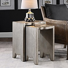 image of uttermost imala nesting tables in burnished silver set of 2