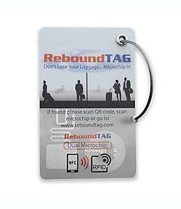 Etiqueta para equipaje con microchip, ReboundTAG en blanco