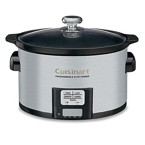 programmable slow cooker cuisinart 174 3 5 quart programmable cooker bed bath 30440