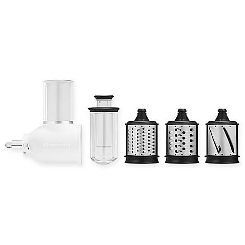 Kitchenaid Attachments Cheese Grater kitchenaid® 5-piece fresh prep slicer/shredder attachment set in