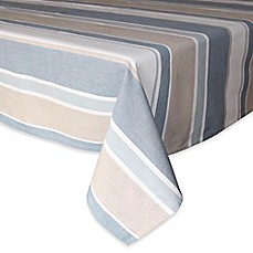 image of Park B. Smith® Julian Stripe Tablecloth in Blue