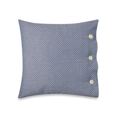 image of Bellora® Luxury Italian-Made Kind Of Blue Tie 18-Inch Square Throw Pillow in Denim