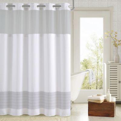 Hookless Aruba Pleats Color Block Shower Curtain Bed Bath Beyond