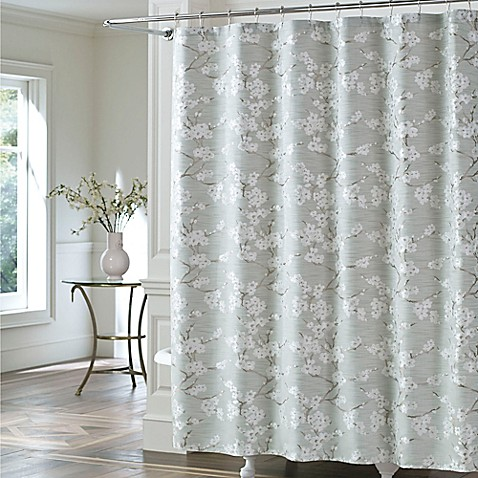 J. Queen New York™ Mika Shower Curtain in Sea Foam - Bed Bath & Beyond