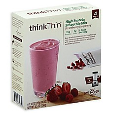 image of Think Thin® 4-Pack High Protein Smoothie Mix in Strawberry Raspberry