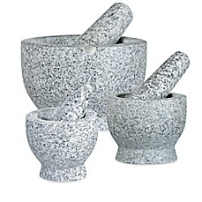 image of Frieling Granite Mortar and Pestle in White