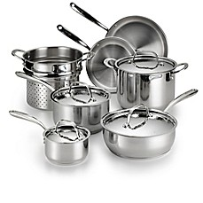 image of Lagostina Luminosa Stainless Steel 11-Piece Cookware Set and Open Stock Collection