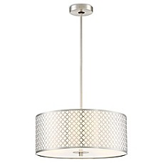 image of George Kovacs® Dots 3-Light Pendant in Brushed Nickel with Acrylic Shade