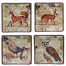 image of Certified International Rustic Nature Dessert Plates (Set of 4)