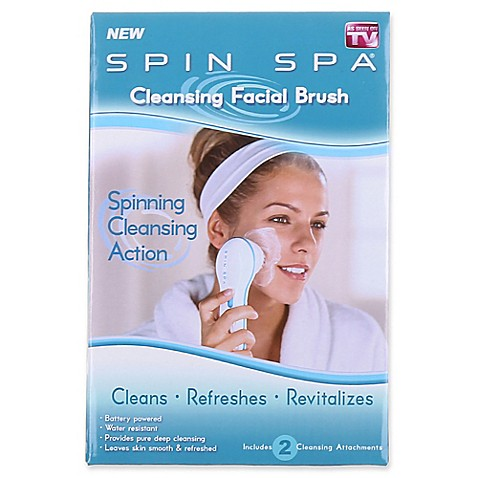 Spin Spa Face Brush in White