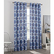 image of Newport Medallion Grommet Window Curtain Panel