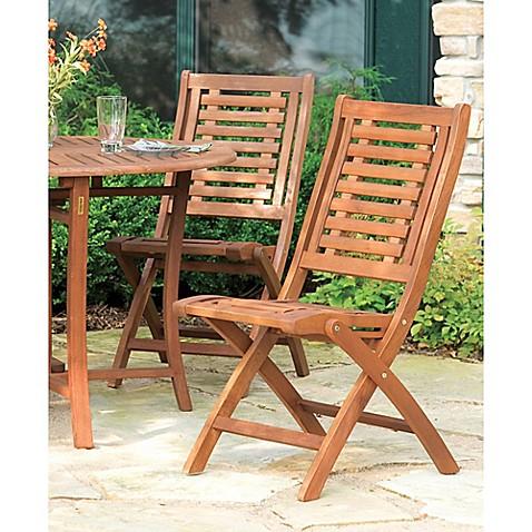 Buy Outdoor Interiors Eucalyptus Outdoor Folding Side