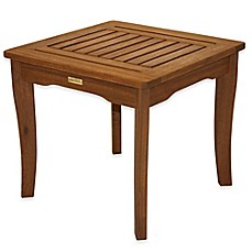 image of Outdoor Interiors® Eucalyptus Outdoor End Table in Brown Umber