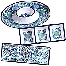 image of Certified International Talavera 3-Piece Hostess Serving Set