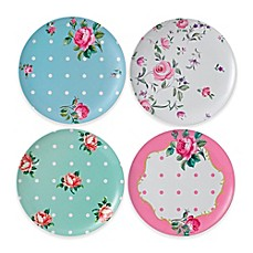 image of Royal Albert Vintage Mix Picnic Dinner Plates (Set of 4)