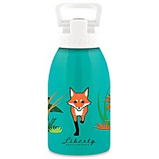 image of Liberty Bottleworks Safari 12 oz. Aluminum Fox Water Bottle in Turquoise