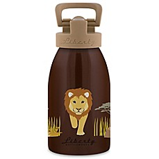 image of Liberty Bottleworks Safari 12 oz. Aluminum Lion Water Bottle in Brown