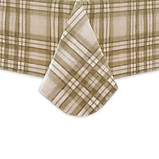 Reeve Plaid Vinyl Tablecloth In Grey
