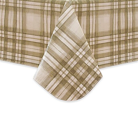 Reeve Plaid Vinyl Tablecloth In Grey Bed Bath Amp Beyond