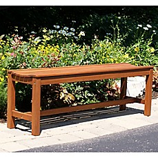 image of Outdoor Interiors® Eucalyptus Outdoor Backless Bench in Brown Umber