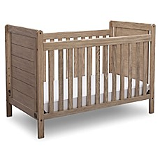 image of Serta® Cali 4-in-1 Convertible Crib in Rustic White Wash