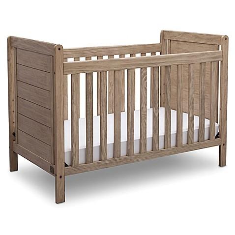 Sertareg Cali 4 In 1 Convertible Crib Rustic White Wash