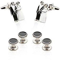 image of Cuff-Daddy Bride and Groom Cufflinks and Studs
