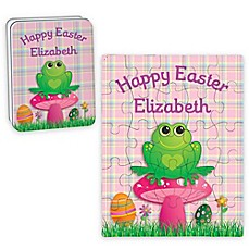 image of Frog Happy Easter Puzzle and Tin in Pink