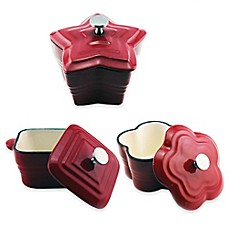 image of BergHOFF® 5-Inch Cast Iron Mini Casseroles in Red (Set of 6)