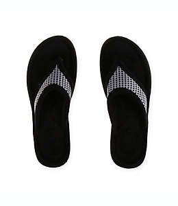 Pantuflas medianas tipo sandalia para mujer Therapedic® en gris