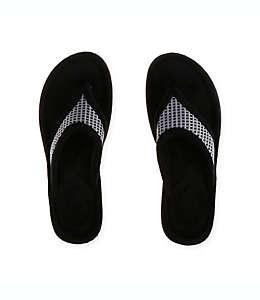 Pantuflas grandes tipo sandalia para mujer Therapedic® en gris