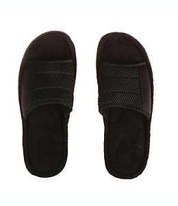 Pantuflas extra grandes tipo sandalia para hombre Therapedic® en negro