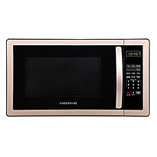 image of Farberware® Classic 1.1 Cubic Foot Microwave Oven in Copper/Black