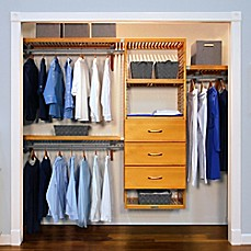 Image Of John Louis Home Deluxe Closet Organizer With 3 Drawers