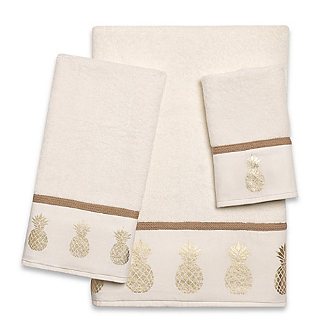 Golden Pineapple Bath Towel Collection Bed Bath Amp Beyond