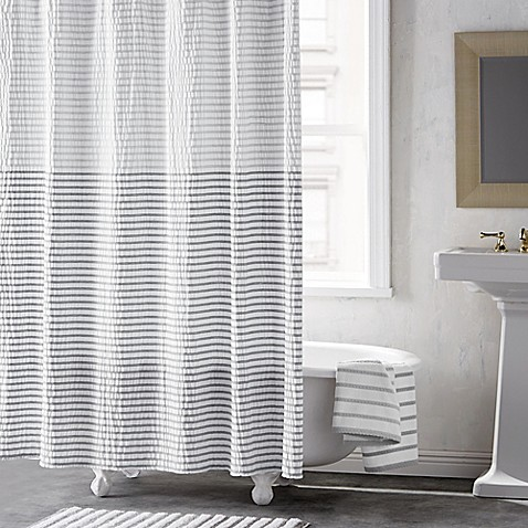 DKNY Parsons Stripe 72-Inch Shower Curtain