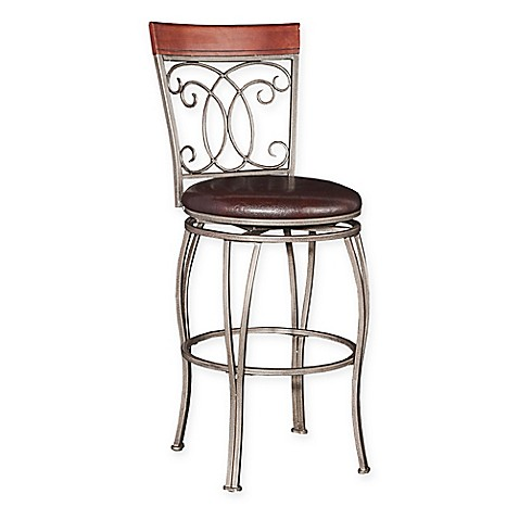 Buy Powell Bailey Big And Tall Barstool In Silver From Bed