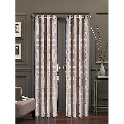 J Queen New York Kingsgate 84 Inch Window Curtain Panel Pair In Beige Bed Bath Beyond