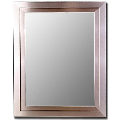 Buy Hitchcock Butterfield 30 Inch X 40 Inch Decorative Wall Mirror In Satin Brushed Nickel