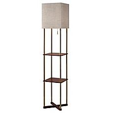 image of Adesso® Harrison Shelf Floor Lamp