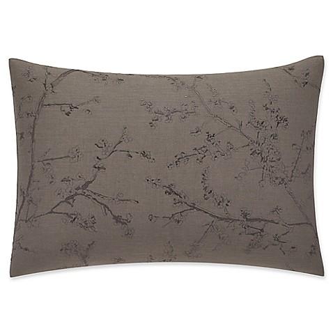 Vera Wang Home Winter Blossoms Oblong Throw Pillow in Dark Brown - Bed Bath & Beyond