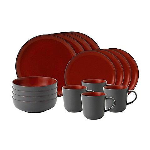 Gordon Ramsay by Royal Doultonu0026reg; Bread Street 16-Piece Dinnerware Set in Dark Red  sc 1 st  Bed Bath u0026 Beyond & Gordon Ramsay by Royal Doulton® Bread Street 16-Piece Dinnerware Set ...